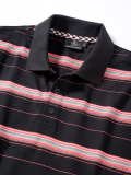 Мужская рубашка поло Mercedes Men's Polo Shirt, Coral Woven Stripes, артикул B66953999