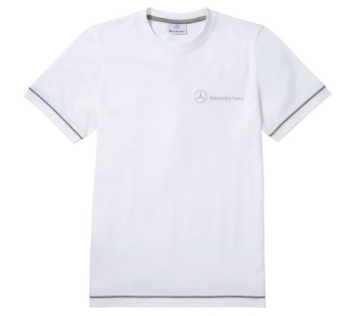 Мужская футболка Mercedes Men's T-Shirt, Basic, White Style