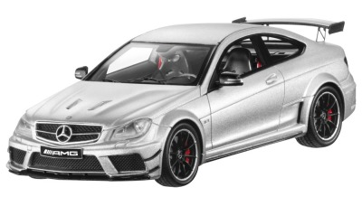 Модель Mercedes-Benz C 63 AMG Coupé Black Series (C204), Scale 1:43, Iridium Silver Magno, Limited Edition