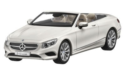 Модель Mercedes-Benz S-Klasse, Cabriolet, Scale 1:43, White