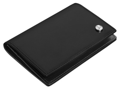 Кожаная визитница Mercedes-Benz Business Card Leather Wallet, Black
