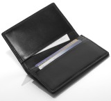 Кожаная визитница Mercedes-Benz Business Card Leather Wallet, Black, артикул B66952884