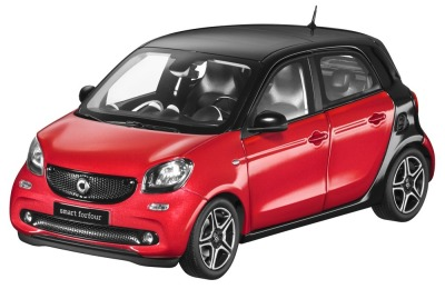 Модель Smart Forfour Prime, Scale 1:18, Black-Red