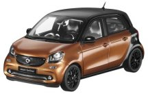 Модель Smart Forfour Prime, Scale 1:18, Black-Brown