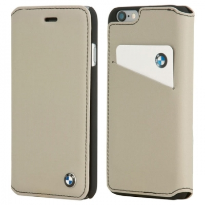 Чехол для смартфона BMW iPhone 6 Plus Bicolor Booktype Grey/Black