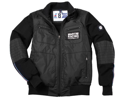 Мужская куртка Porsche Men's Nylon Mix Jacket Martini Racing, Black
