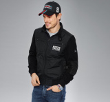 Мужская куртка Porsche Men's Nylon Mix Jacket Martini Racing, Black, артикул WAP55200S0G