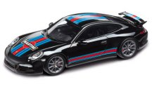 Модель автомобиля Porsche 911 Carrera S Aerokit Cup Martini Racing, Black