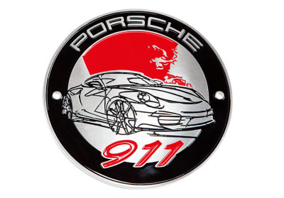 Эмблема на решетку радиатора Porsche Grill badge – 911 Collection – limited edition