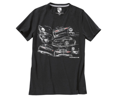 Футболка унисекс Porsche Collector's T-Shirt Edition no. 4, 911 Collection