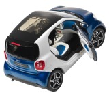 Модель Smart Fortwo Coupé, Proxy, Scale 1:18, Blue-White, артикул B66960282