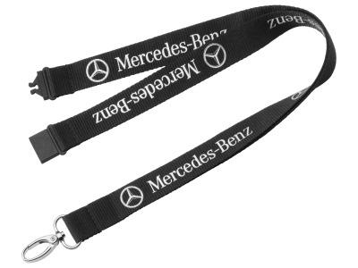 Шнурок с карабином для ключей Mercedes-Benz Classic Star Lanyard, Black 2015