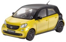 Модель Smart Forfour Passion, Proxy, Scale 1:43, Black-Yellow