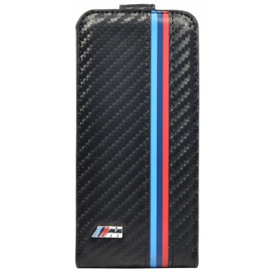 Крышка для смартфона BMW iPhone 5 M-Collection Flip Carbon Effect