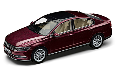 Модель автомобиля Volkswagen Passat Saloon B8, Scale 1:43, Crimson Red Metallic
