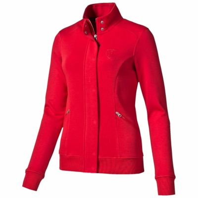 Женская толстовка Ferrari Ladies Sweat Jacket, Rosso Corsa