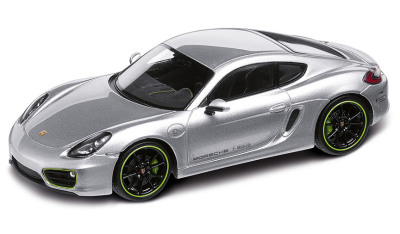 Модель автомобиля Porsche Cayman E 1:43, Rhodium Met. Silver with Acid Green
