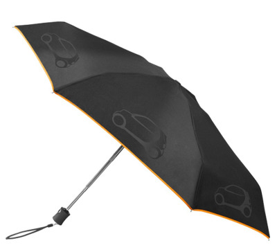 Складной зонт Smart Compact Umbrella, Black-Orange