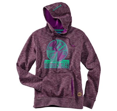 Женская толстовка BMW Motorrad Ladies Roadster Hooded Sweatshirt, Purple