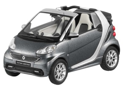 Модель Smart Fortwo Cabrio, Scale 1:43, Silver-Grey Metallic