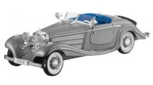 Модель Mercedes-Benz 500 K Special Roadster, W29, 1934, Silver, Scale 1:18