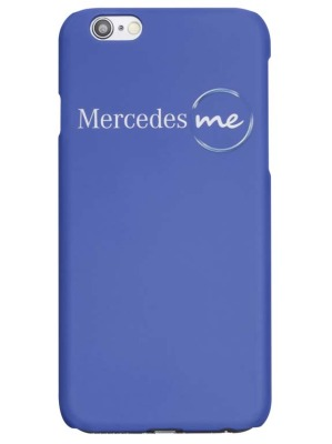 Чехол для iPhone 6 Mercedes me, Sky Blue Plastic Case, Soft Touch