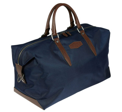 Дорожная сумка Jaguar Heritage Holdall, leather-Nylon, Blue-Brown