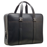 Кожаный портфель Land Rover Leather Briefcase - Black, артикул LRSLGTRXBRF