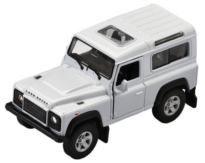 Инерционная модель Land Rover Defender Pullback, Scale 1:38, White