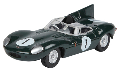 Модель автомобиля Jaguar D-Type 1956 Le Mans, Scale Model 1:76