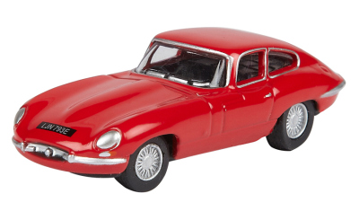 Модель автомобиля Jaguar E-Type, Scale Model 1:76, Carmen Red