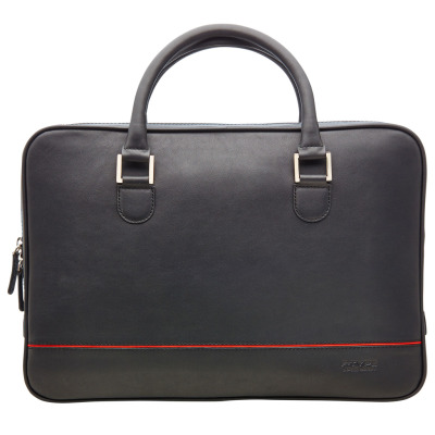 Кожаный портфель Jaguar Leather F-Type Briefcase, Black