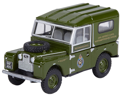 Модель автомобиля Land Rover Defender Civil Defence 1947, Scale Model 1:76