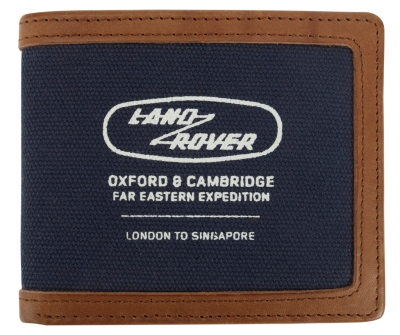 Кошелек Land Rover Heritage Wallet, Blue-Brown