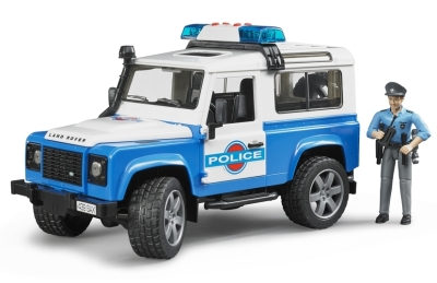 Модели полицейского автомобиля Land Rover Defender Light And Sound Police Vehicle With Policeman Set
