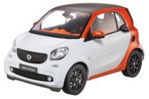 Модель Smart Fortwo Coupé Passion (C453), Edition No.1, Scale 1:18, White-Orange