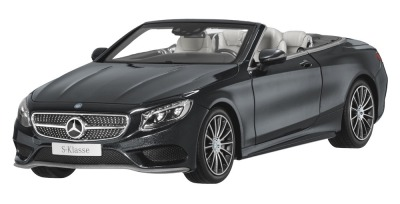 Модель Mercedes-Benz S-Class Cabriolet, Magnetite Black Metallic, 1:18 Scale