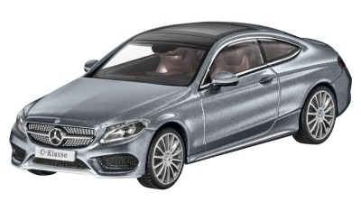 Модель Mercedes-Benz C-Class Coupe (C205), Scale 1:43, Selenite Grey Metallic
