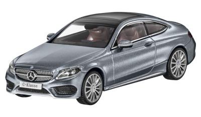 Модель Mercedes-Benz C-Class Coupe (C205), Scale 1:43, Selenite Grey Metallic