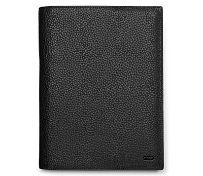 Блокнот Audi Leather Sleeve With Notebook, Audi Sport, black/red