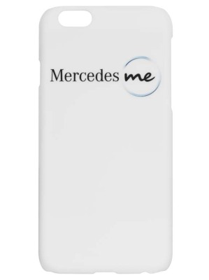 Чехол для iPhone 6 Mercedes me, White Plastic Case, Soft Touch