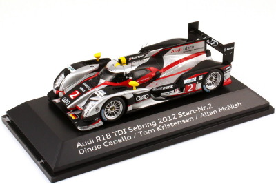 Модель автомобиля Audi R18 TDI Sebring 2012 Start No. 2, Scale 1:43