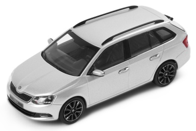 Модель автомобиля Skoda New Fabia Combi, Scale 1:43, Silver Brilliant Metallic