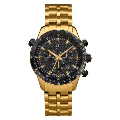 Мужские наручные часы Mercedes-Benz Men's MSP Chronograph Watch, Gold Edition 2017