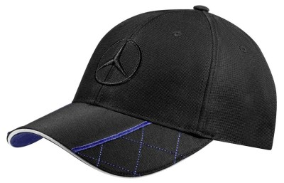 Мужская бейсболка Mercedes-Benz Men's Baseball Cap, Black / Blue