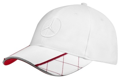 Мужская бейсболка Mercedes-Benz Men's Baseball Cap, White / Red