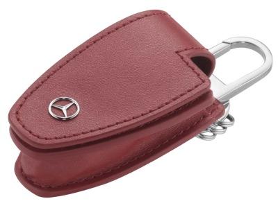 Кожаный футляр для ключей Mercedes-Benz Key Wallet, Fire Opal