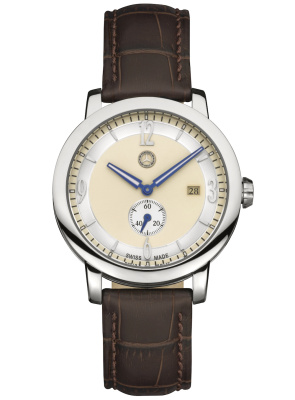 Мужские наручные часы Mercedes-Benz Men's Watch, Classic Steel Mark 2 Silver / Beige / Brown