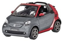 Модель Smart Fortwo Cabrio (A453), Titania Grey Matt / Red, Scale 1:43