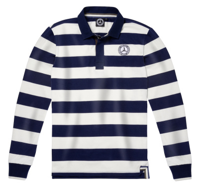 Мужская регбийная кофта Mercedes Men's Rugby Shirt, Navy / Cream